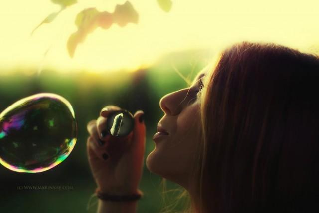 как настроиться на позитив - дуть пузыри