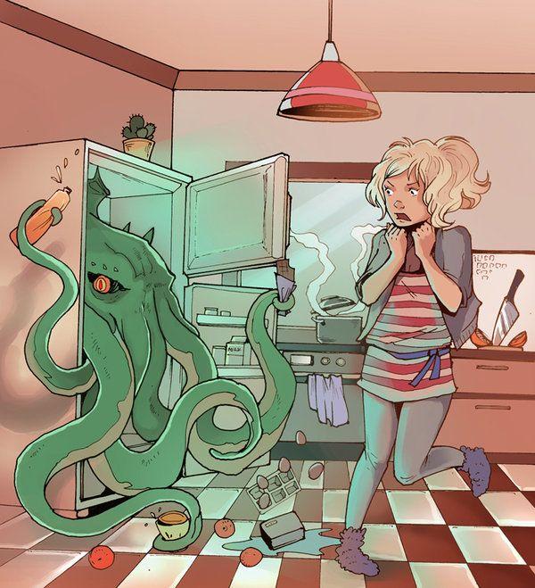 Зомби у холодильника... или в холодильнике?
