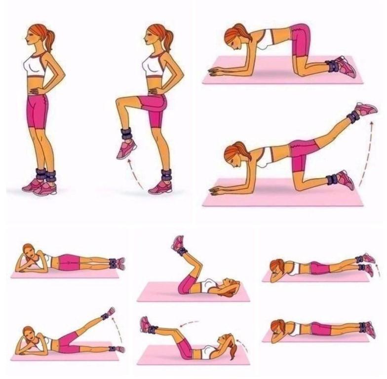 Как Сбросить Лишний Вес Упражнения Видео.
