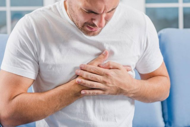 pain in the chest area